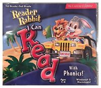 Reader Rabbit I Can Read With Phonics 1st and 2nd Grade Pc Brand New XP