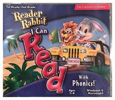 Reader Rabbit I Can Read With Phonics 1st and 2nd Pc Brand New Sealed Nice XP