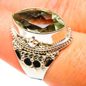 Green Amethyst 925 Sterling Silver Ring Size 7.5 Ana Co Jewelry R76517F