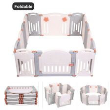 ABST 12+2 Large Foldable Plastic Baby Playpen Indoor& Outdoor With Optional Play