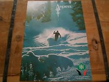 VINTAGE 50's/60's *ASPEN MTN* Powder SKI Poster, BUTTERMILK & SNOWMASS SKI Areas