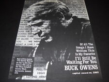 BUCK OWENS favorite song is I'LL STILL BE WAITING FOR YOU 1972 Promo Poster Ad
