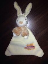 C&A Baby Schnuffel Schmusetuch Kuscheltuch Hase Bunny Braun Wolke Bunt Fleece