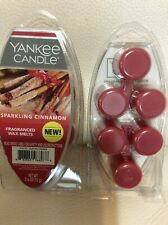 Yankee Candle Sparkling Cinnamon Fragranced Wax Melts 2 Pkgs NEW! Red