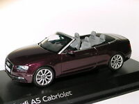 Audi A5 cabriolet  (restylée/ facelift) de 2012   au 1/43 de NOREV