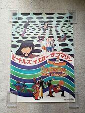 Yellow Submarine The Beatles 1969 Original B2 Movie Poster
