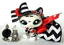 Littlest Pet Shop Clothes LPS Accesories Costum Chevron skirt bow necklace