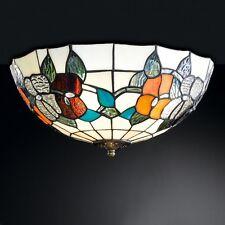 Honsel Tiffany Deckenleuchte Zado 3-flg Altmessing Glas Handarbeit ø 40 cm NEU