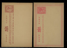 Victoria  2 different one penny postal cards unused                MS0713