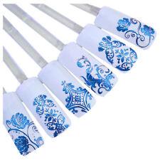 108pcs/sheet 3d Design Nail Art Sticker Tips Decal Flower Manicure Stickers E8i4 Navy Blue