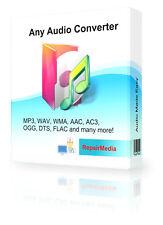 Conversor de Audio Música MP3, WAV, WMA, AAC, AC3, OGG, DTS, FLAC Software PC DVD