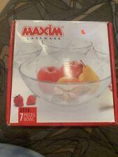 New ListingMaxim Glassware bowl set 7 pieces Elegant Glassware