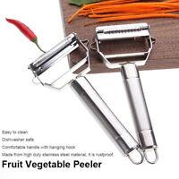 Dual Fruit Vegetable Peeler Cutter Sharp Stainless Steel Potato Carrot Grater /