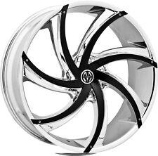 20 inch 20x8.5 Massiv Turbino Chrome Black Insert wheel rim 5x4.25 5x108 +38