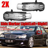 Per Mercedes Classe C W203 2004-2007 LED Specchietto Freccia Destro + Sinistro