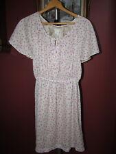 J Crew Silk Chiffon Floral Print Blouson Agate Dress size 4 44856