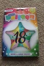 New UNISEX ADULTS HAPPY BIRTHDAY STAR SHAPE FOIL HELIUM BALLOON AGE 18TH  18