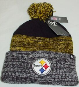 Pittsburgh Steelers NFL Knit Winter Hat Black & Gold One Size Fits Most New