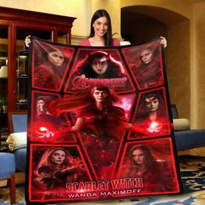 Scarlet Witch Marvel Avengers Super Hero - Fleece/Sherpad Blanket 50x60,60x80