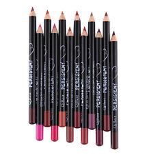 12 Waterproof Lip Liner Pencil Pen Bulk Lot Makeup Tool Rose Red Coffee 12 Cols
