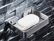 Wall Mounted Brushed Nickel Stainless Steel Bathroom Soap Dish Holder Bracket