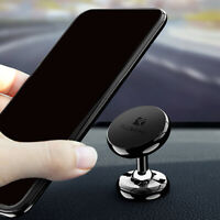 1x Floveme Magnetic Phone Holder 360° Rotating Mount Stand Car Accessories Black
