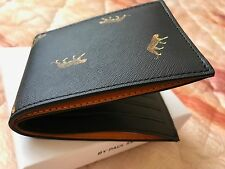 Paul Smith Men's Wallet - Men's Black 'Leopard' Saffiano Leather