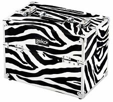 Professional Personal Beauty Hairdresser Vanity Case Makeup Box Storage Zebra