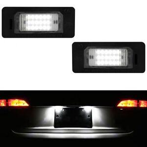 2 ECLAIRAGE PLAQUE LED BMW SERIE 5 E39 BERLINE 95-03 520D 530I FEUX BLANC XENON
