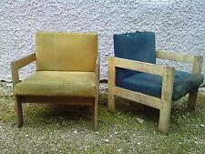 paire de fauteuils design moderniste frene ? chene ?