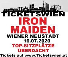 Iron Maiden! Überdachte Sitzplätze! Live Wiener Neustadt 16.07.2020 TICKETSWIEN