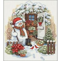 Dimensions Counted X Stitch -garden Shed Snowman - Cross Garden Kit D08817 New