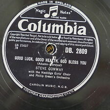 78rpm STEVE CONWAY good luck good health god bless you / all my life