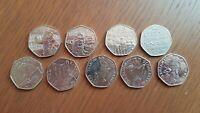 Rare & Valuable UK 50p Pence Coins Circulated, Beatrice Potter, Paddington Bear