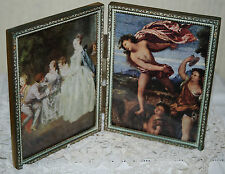 Vintage Double Gold Gilt Metal French Photo/ Picture Frame Old Baroque Rococo