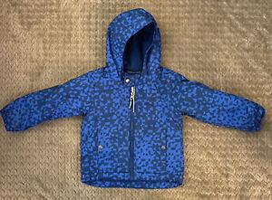 Boys Columbia Blue Winter Coat Fleece Lined Size 3T Expandable Sleeves