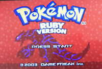 Pokemon Ruby Version Nintendo GameBoy Advance GBA Game | Tested |  US Seller!