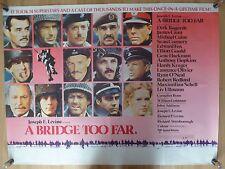 A BRIDGE TOO FAR (1977) - original UK quad film/movie poster, war, Sean Connery