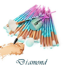 21Pcs Mermaid Glitter Makup Brushes Set Powder Foundation Comestic Brushes Kits