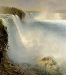 Frederic Edwin Church Niagara Falls Poster Reproduction Giclee Canvas Print