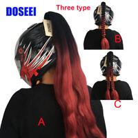 Ponytail Motorcycle Helmet Wig Hair 1pcs 42# Pure Hand-made Helmet Braids