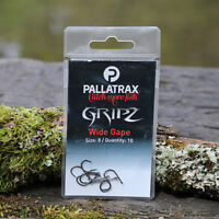 New Pallatrax Gripz Fishing Hooks - Wide Gape - Seriously Sharp Fishing Hooks