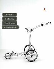 """Elektro Golftrolley mit Lithium-Batterie """"Birdie brake"""" silbern Aluminium"""