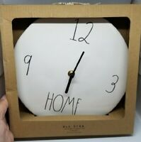"RAE DUNN Artisan Collection LL ""HOME"" 9"" Ceramic Wall Clock By Magenta NEW!!"