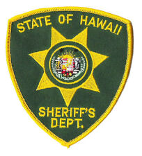 POLICE PATCH HAWAII COUNTY HAWAI'I HI FIVE O 50 STATE OF SHERIFF'S DEPT SHERIFF