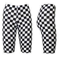 Women's Monochrome Checkerboard Chess Printed Cycling Cycle Shorts Gym Yoga