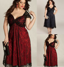 Fat MM Womens Dress Plus Size Short Sleeve Cocktail Party Evening Formal Dress