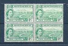 MONTSERRAT 1964 DEFINITIVES SG157 2c BLOCK OF 4 MNH