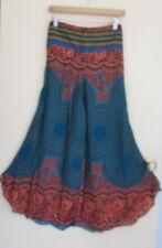 New Lovely Summer Bohemian Hippie Blue Wide leg Loose Pants One Sz 8-12 Fit