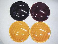 "Lot 4 Glass 8-3/8"" Lens Roundel Emergency Flash Traffic Light Red Yellow Amber"